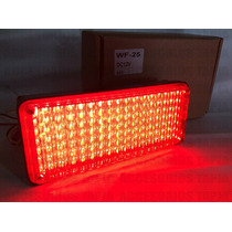 Estrobo Rectangular 126 Leds Ambulancias Color Rojo Wf25