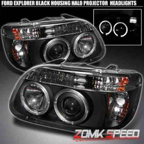 Faros Proyectores Negros Ford Explorer 96 97 98 99 Angel Hid