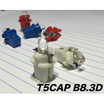 2x Foco T5cap B8.3d Para Tablero Con 1 Led Blanco Rojo Azul