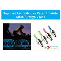 Tapones Led Valculas Para Bici Auto Moto Y Mas Baterias