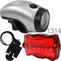 Kit Luces Seguridad Para Bicicletas Moto Fija Intermitente