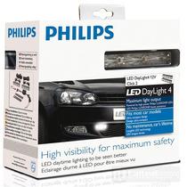 Kit 4 Leds Daylight Philips Luz De Dia Para Auto