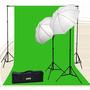 Pantalla Verde Chromakey Green Screen Kit 800 Watt 10x20
