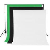 Fondo Pantalla Fotográfico Ciclorama Blanco Verde Negro 3x6m