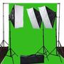 Set Pantalla Verde Ephoto 10 X 12 Chromakey Green Screen