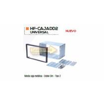 Base Frente Adaptador Estereo Media Caja Metalica Tipo 2