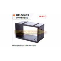 Base Frente Adaptador Estereo Media Caja Plastica Tipo 3