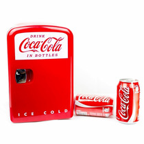 Mini Refrigerador Frigobar Coca-cola Para 6 Latas Dc Ca Auto