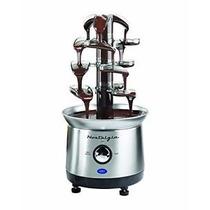 Fuente De Chocolate Tres Pisos Tipo Fondue Acero Inox 43 Cm