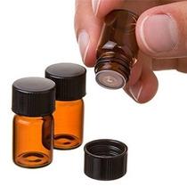 24pcs (5/8 Copita) 2 Ml De Vidrio Ámbar Botella De Aceite Es