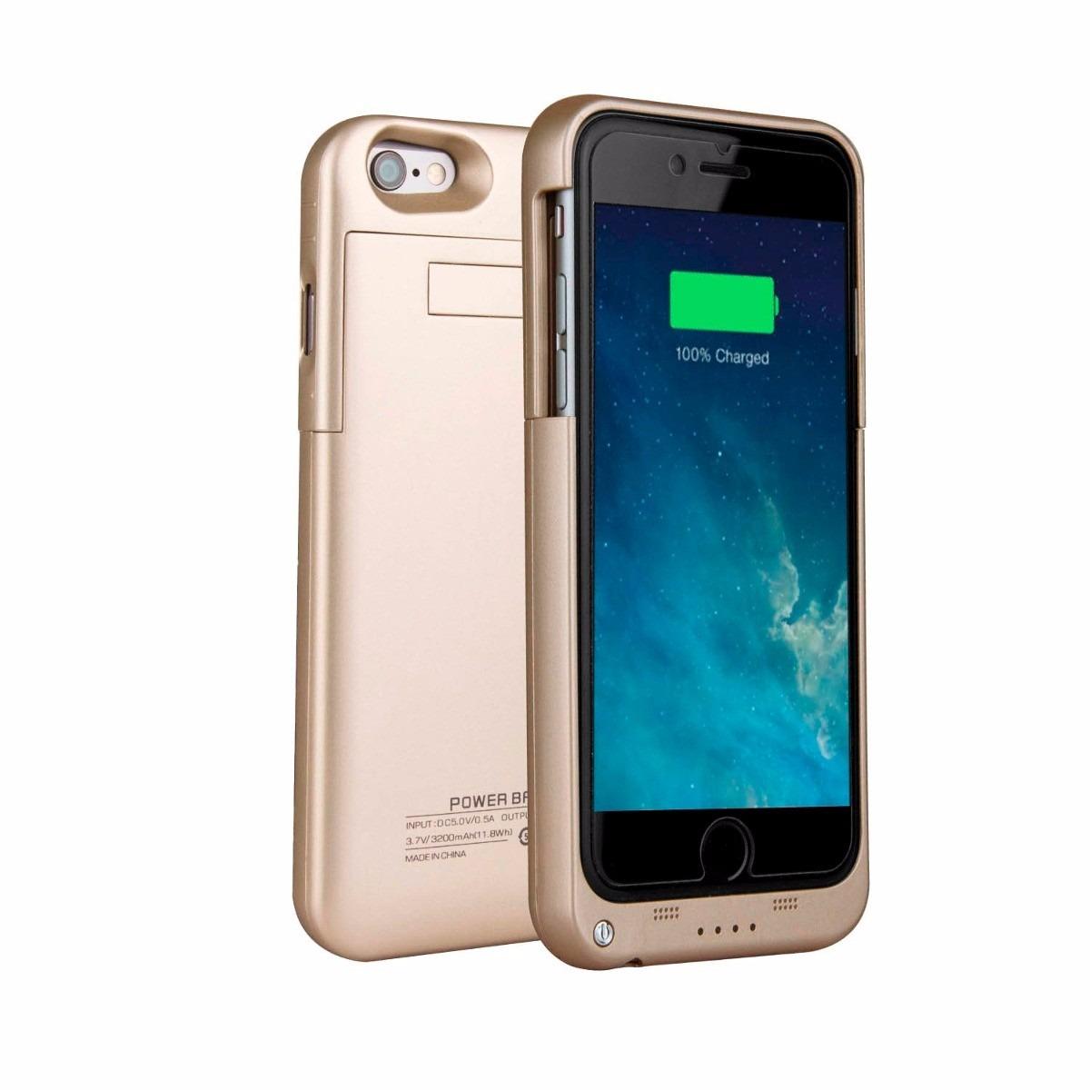 Funda bateria para iphone 6 iphone 6 plus carga y protege for Funda bateria iphone