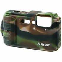 Funda Silicon Nikon Coolpix Aw130 (camouflage)