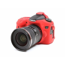 Canon Eos 70d Funda De Silicon Color Rojo