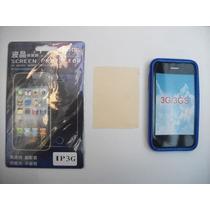 Kit 3x1 Tpu+ Mica+ Paño Iphone 3gs!