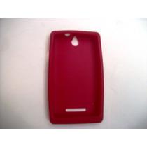 Protector Silicon Case Sony Xperia E C1505 Color Rojo!