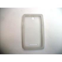 Protector Silicon Case Sony Xperia E C1505 Color Blanco!