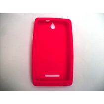 Protector Silicon Case Sony Xperia E C1505 Color Rosa!