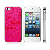 Funda Iphone 5s / 5 Rosa Plástico Con Dibujos Skinning