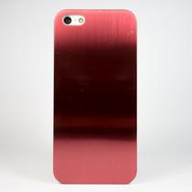 Funda Aluminio Case Lisa Roja Y Cafe Lujo Para Iphone 5 5s