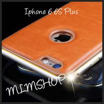 Funda Luxury Aluminio Tapa Piel Apple Iphone 6 6s 6 Plus