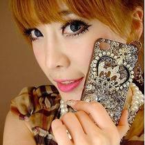 Entrega Inmediata Corona Y Mariposa Iphone5 Cristales Y Pedr