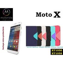 Funda Vinipiel Motorola Moto X, Xt1056, Xt1058 + Mica