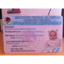 Invitaciones En Credencial De Pvc Tamaño Tarjeta De Crédito