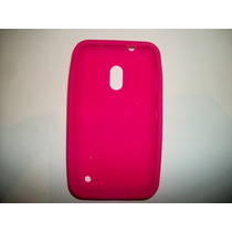 Protector Silicon Case Nokia Lumia 620 Color Rosa!