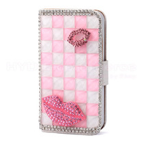 Uranoshop Hermosas Funda-cartera C/pedreria Cristales Iphone