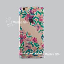 Funda Flores Tipo 3d Iphone 5,5c, 6,6s, 6 Plus Galaxy S5, S6