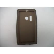 Protector Silicon Case Nokia Lumia 505 Color Humo!