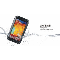 Funda Love Mei Samsung Note 3 Aluminio Gorilla Glass