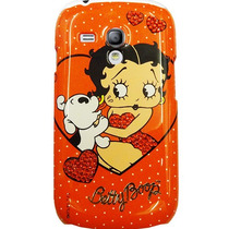Funda Carcasa Trasera Protector S3 Mini Betty Boop Rojo