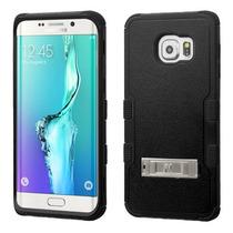 Funda Protector Samsung Galaxy S6 Edge Plus Negro Triple Lay