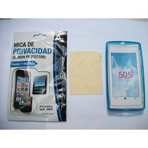 Kit 3x1 Tpu+ Mica Privacidad+ Paño Nokia 505 Lumia!!!