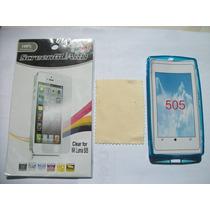 Kit 3x1 Tpu+ Mica+ Paño Nokia 505 Lumia!!!