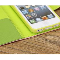 Funda Colores Piel Protector Apple Iphone 5 5s Original Mica