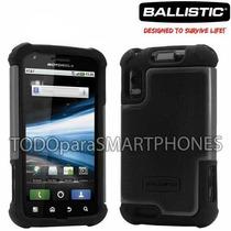 Funda Ballistic Sg Atrix/atrix 4g Motorola Gris Negro Pr Msi