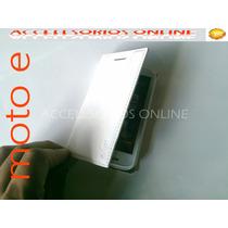 Funda Flip Shell Cover Cartera Motorola Moto E Blanca Barata