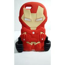 Protector Goma Botarga 3d Iron Man 6/6s Goma