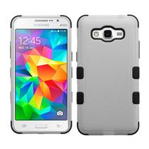 Funda Doble Uso Rudo Samsung Galaxy Grand Prime G530 Gris