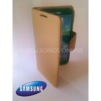 Funda Cartera Flip Cover Samsung Galaxy S4 Cafe Barata !!!!!