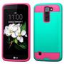 Funda Case Para Lg Q7 Uso Rudo Doble Protector Aqua/rosa