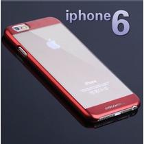 Case Funda Iphone 6 6s Transparente Metálico Protector Micas