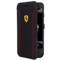 Funda Cargador Flip Ferrari Iphone 6s Y 6 Rojo Negro