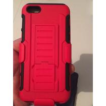 Funda Clip Uso Rudo Hibrido 3 En 1 Iphone 6 Plus S Rojo