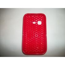 Protector Tpu Para Samsung Chat 2 S5270 Color Rojo!!!