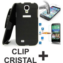 Kit Funda Holster Clip Con Cristal Templado Moto X Play