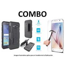 Protector Uso Rudo + Vidrio Templado Galaxy Note 2 Gt-n7100