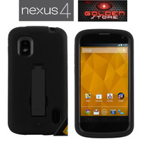 Lg Nexus 4 Funda Armadura Duo Otter Negro